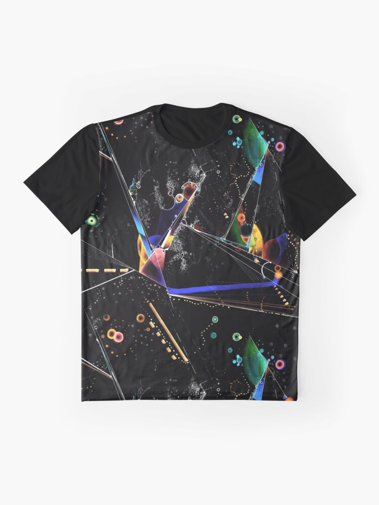 Alternate view of clothing and decor - Spanning the void inverted on black Graphic T-Shirt