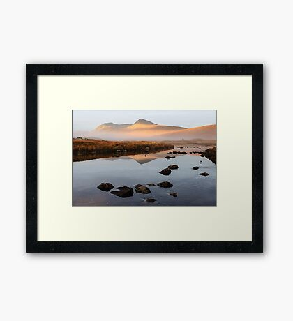Sunrise over the Black Mount Framed Print