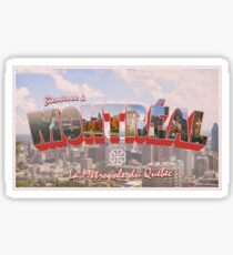Welcome to Montreal Postcard Sticker
