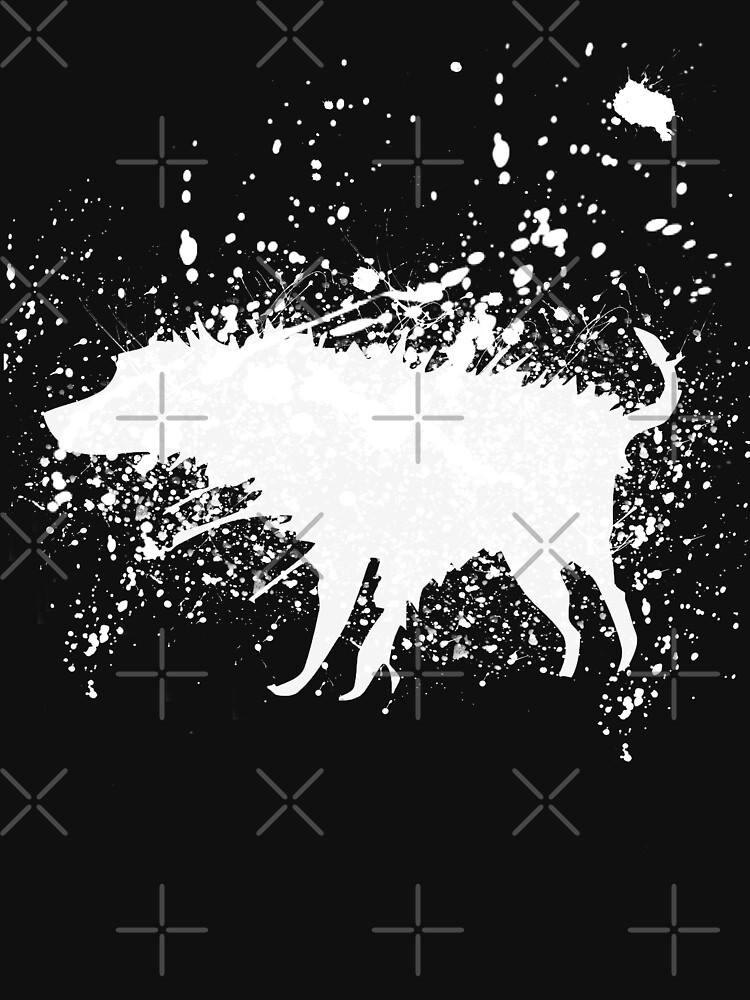 Banksy Splash Dog  by belugastore