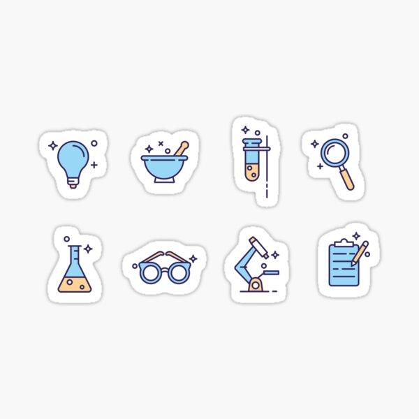 Iconos de laboratorio de ciencia gratis Pegatina