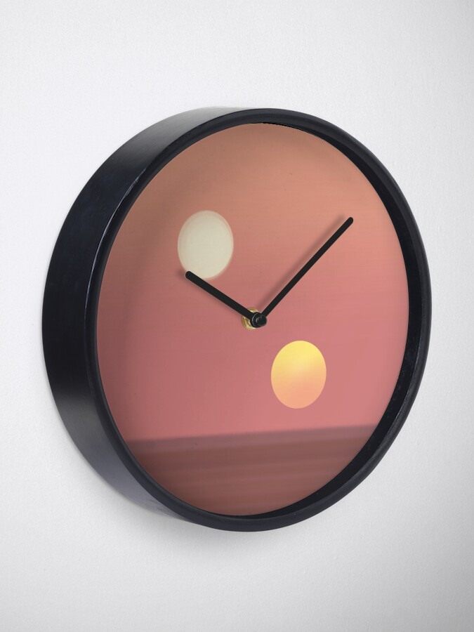 Alternate view of two suns Clock