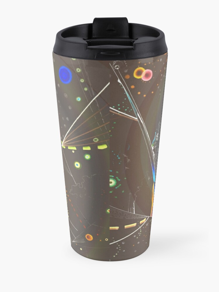 Alternate view of Spiral Spanning the void sharp tile for clothing and decor Travel Mug