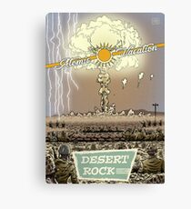 Atomic Vacation at Desert Rock Canvas Print