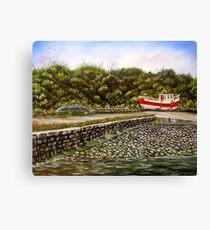 """""""Kilbaha Harbour, county Clare, Ireland"""" - Oil Painting Canvas Print"""