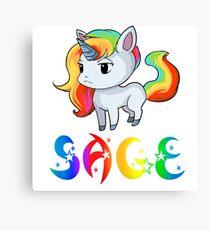 Sage Unicorn Canvas Print