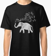 Elephant Music Notes for Animal and Music Lovers Classic T-Shirt