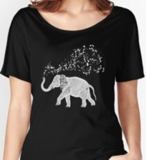 Elephant Music Notes for Animal and Music Lovers Women's Relaxed Fit T-Shirt