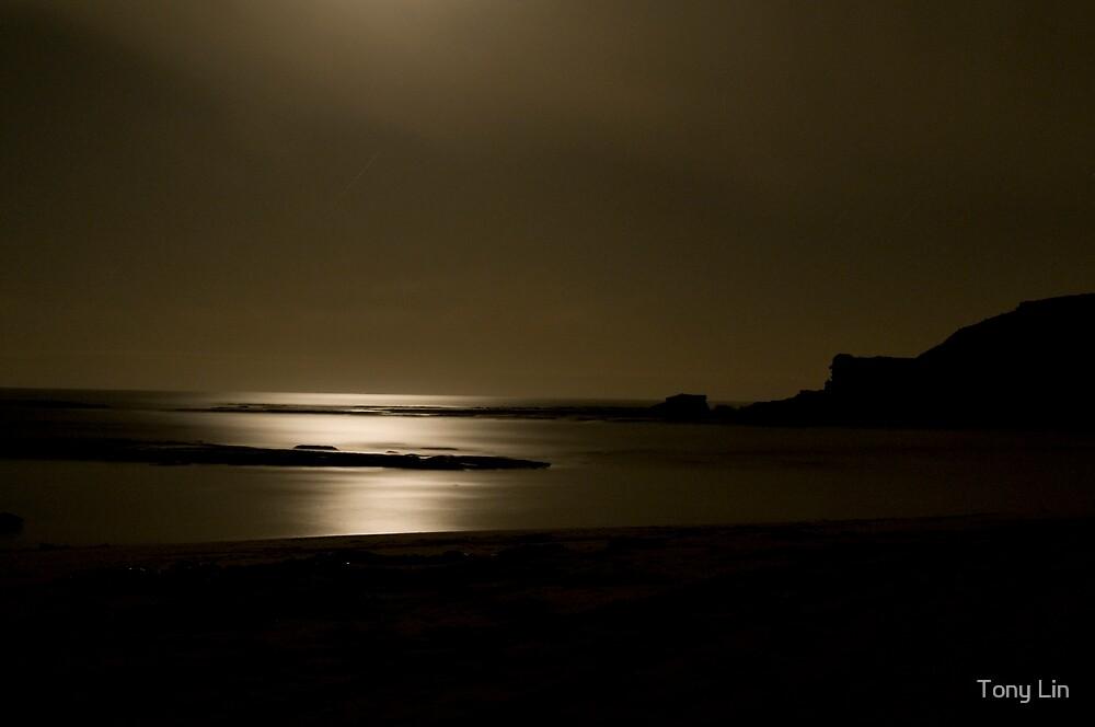 Sorrento Beach By Moonlight by Tony Lin