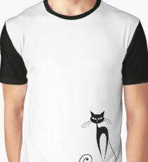 Black cat silhouette Graphic T-Shirt