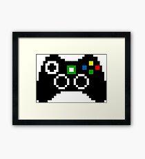 Xbox 360 Controller Pixel Art Framed Print