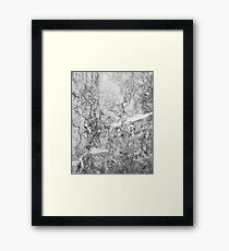 Black and White Marble Texture Framed Print