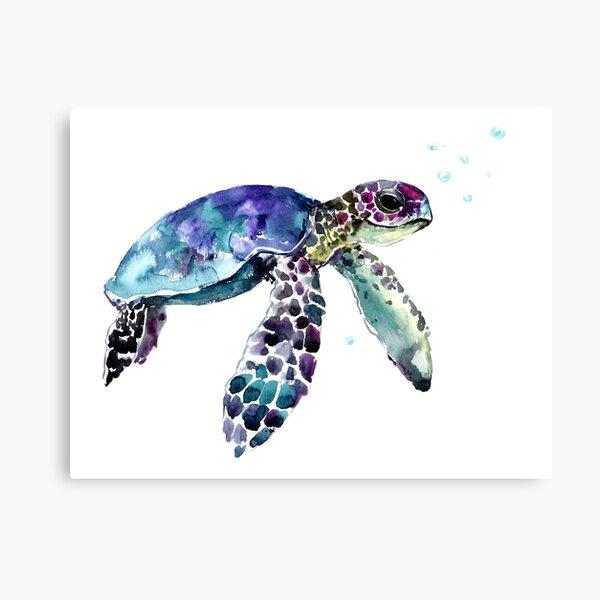Robert Thomas Fine Art Green Sea Turtle Hawaiian Honu Leggings