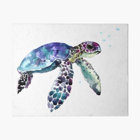 Sea Turtle Art Board Print
