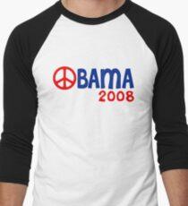 Obama 2008 Peace Sign Men's Baseball ¾ T-Shirt