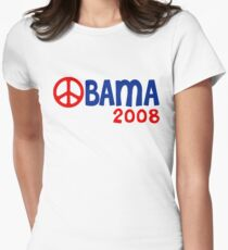 Obama 2008 Peace Sign Women's Fitted T-Shirt