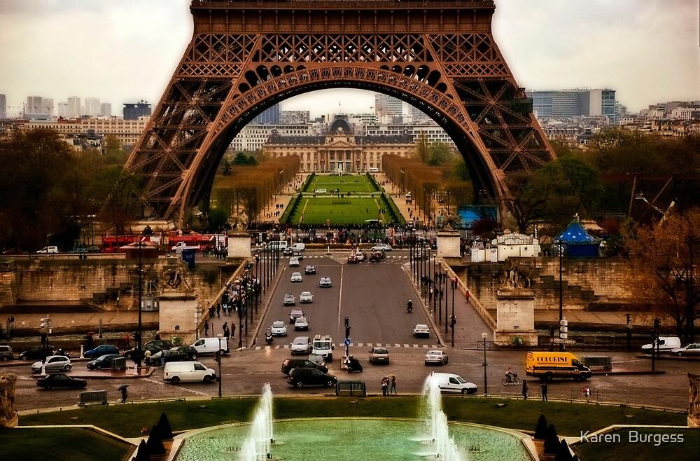 Eiffel Tower by Karen  Burgess