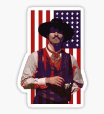 Doc Holliday 1870's flag Sticker