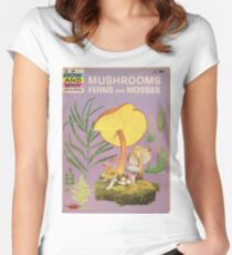 Mushroom Book Cover Women's Fitted Scoop T-Shirt