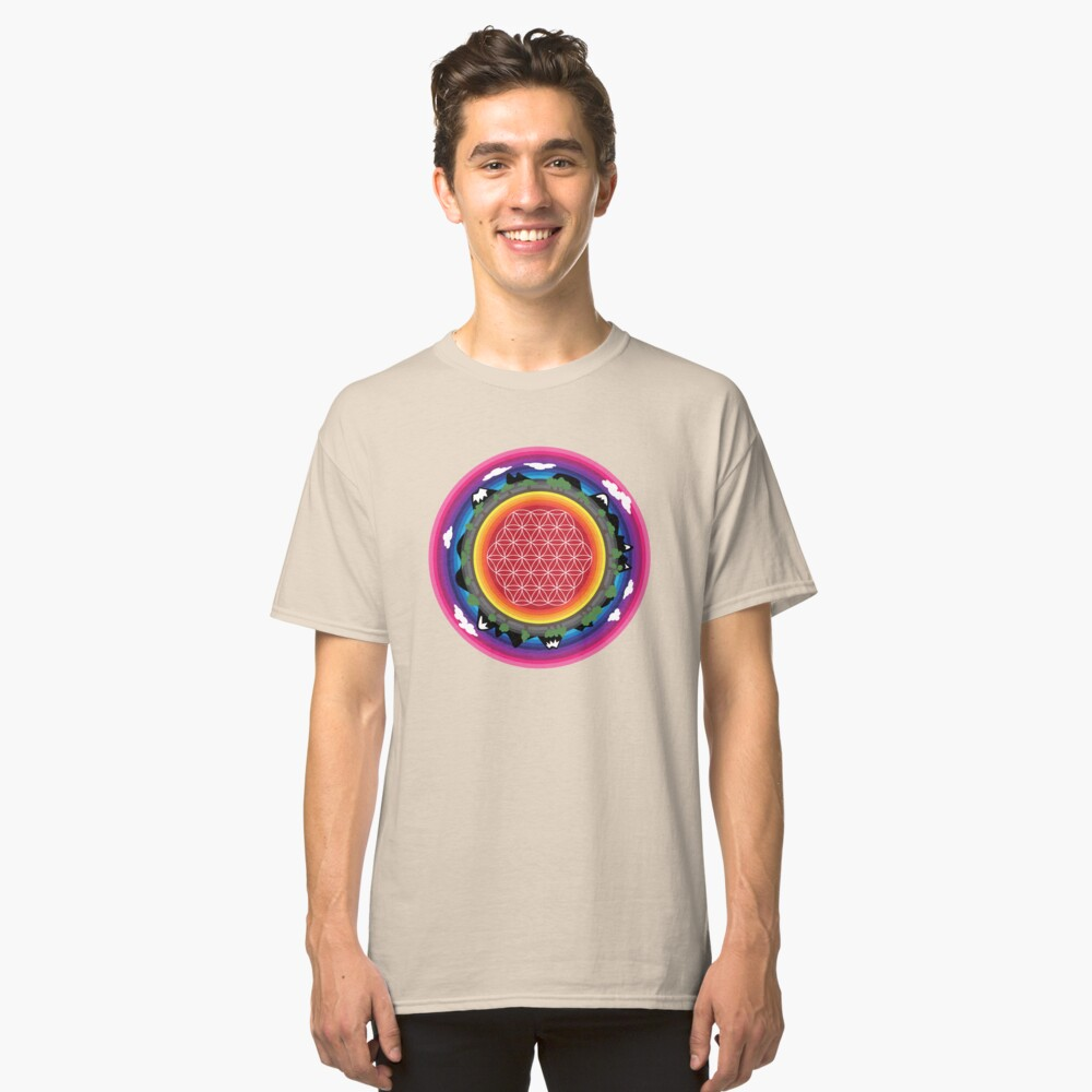 Flower Planet (round) Classic T-Shirt