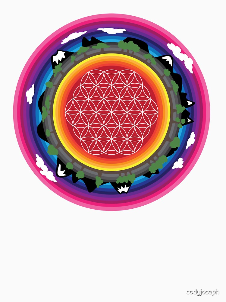 Flower Planet (round) by codyjoseph