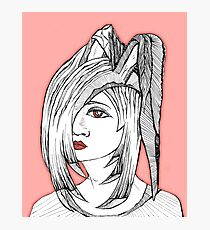 Anime, fantasy girl with rabbit ears Photographic Print