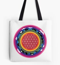 Flower Planet (round) Tote Bag