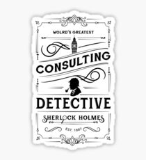 World's Greatest Consulting Detective  - Sherlock Holmes Sticker