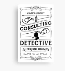 World's Greatest Consulting Detective  - Sherlock Holmes Metal Print