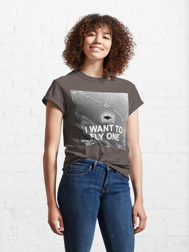 Alternate view of I Want To Fly One Classic T-Shirt