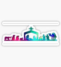 Christmas Nativity Scene- Coloured Sticker