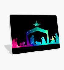 Christmas Nativity Scene- Coloured Laptop Skin