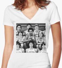 Obama Basketball  Women's Fitted V-Neck T-Shirt
