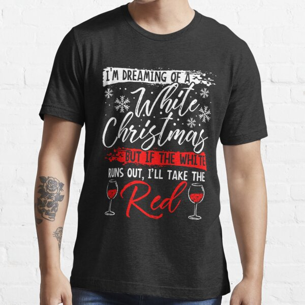 Wine Lover Gift I/'m Full of Holiday Spirit It/'s Called Wine Graphic Tee Christmas Graphic Tee Long Sleeve Tee Holiday Party Shirt