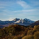 snow capped image of snowdon mountain  by therightprofile