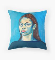 Check Yourself (self portrait) Throw Pillow