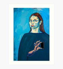 Check Yourself (self portrait) Art Print