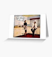 Kitchen Talk Greeting Card