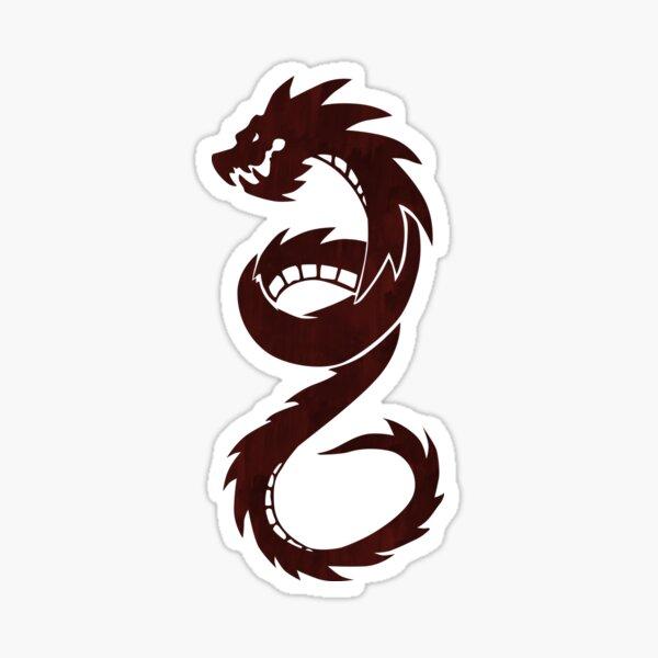 Chloe Red Dragon Sticker