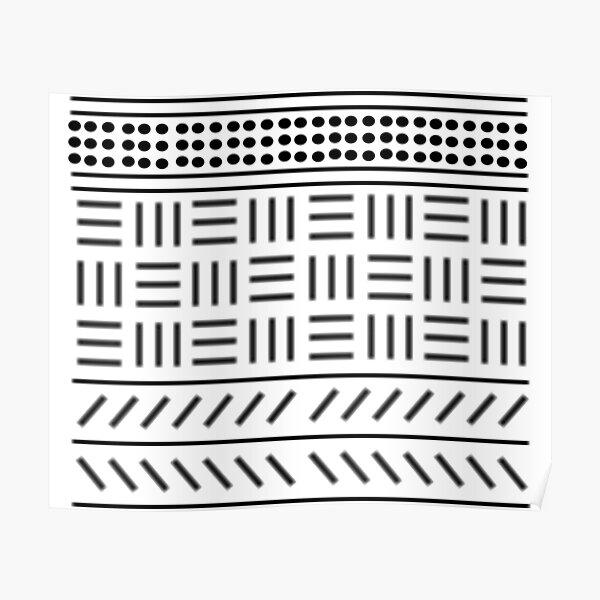 Digital mud cloth pattern Poster