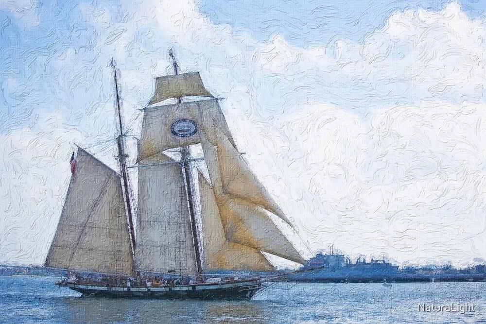 Impasto stylized photo of the Tall Sailing Ship Californian.  by NaturaLight