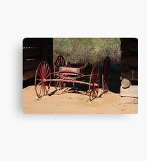 Red Wagon Canvas Print