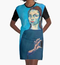 Check Yourself (self portrait) Graphic T-Shirt Dress