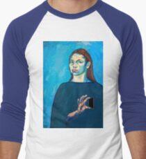 Check Yourself (self portrait) Men's Baseball ¾ T-Shirt
