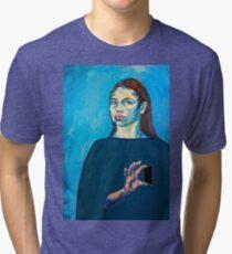 Check Yourself (self portrait) Tri-blend T-Shirt