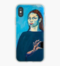 Check Yourself (self portrait) iPhone Case