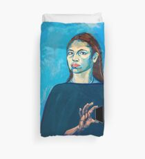 Check Yourself (self portrait) Duvet Cover