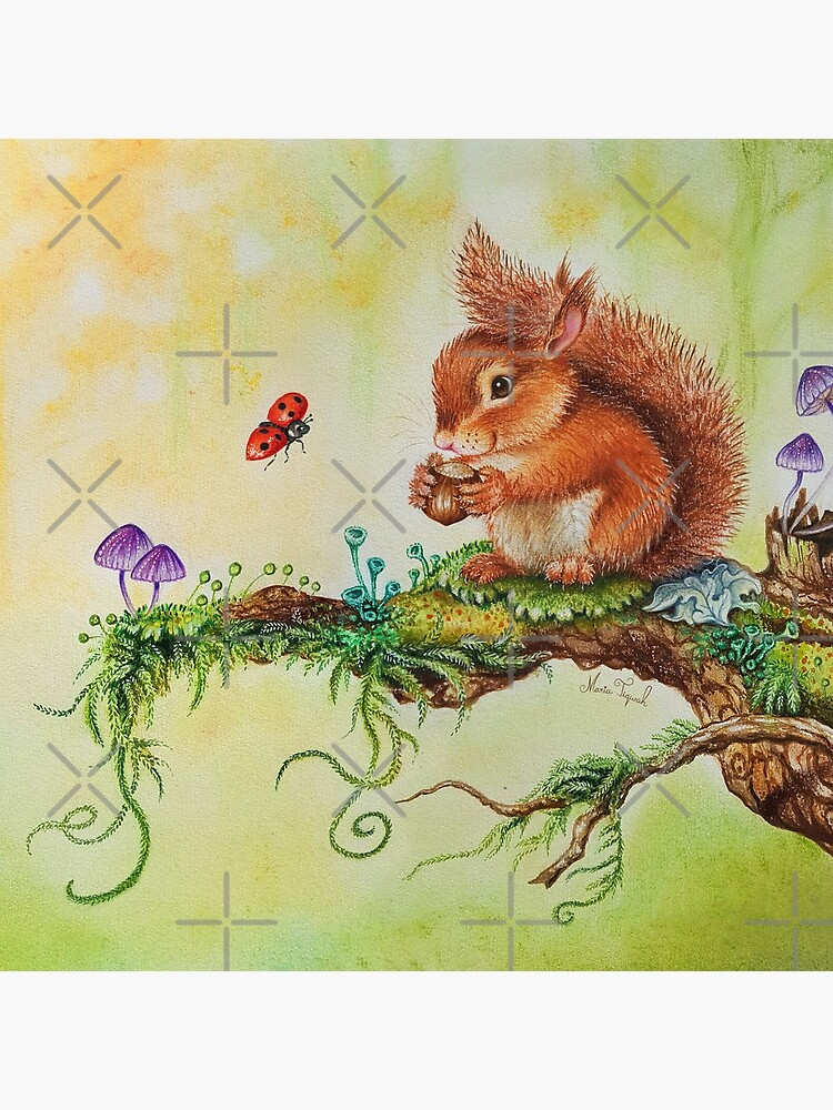 Squirrel and ladybug by Maria Tiqwah by MariaTiqwah