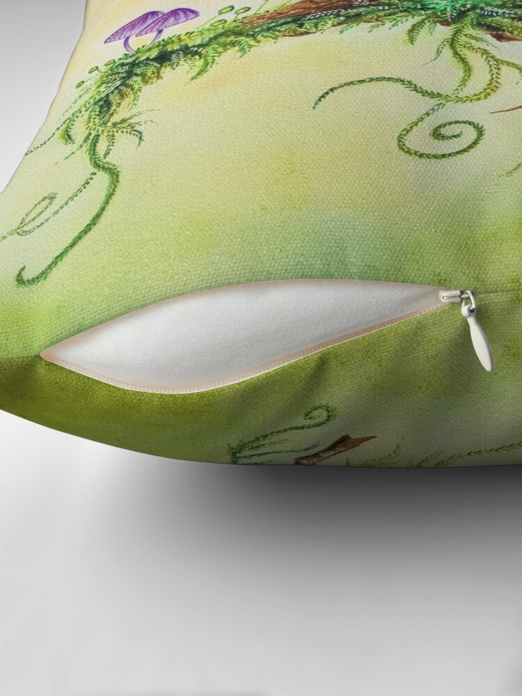 Alternate view of Squirrel and ladybug by Maria Tiqwah Throw Pillow