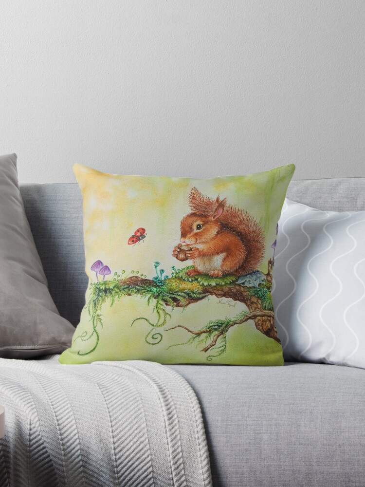 Squirrel and ladybug by Maria Tiqwah by Maria Tiqwah